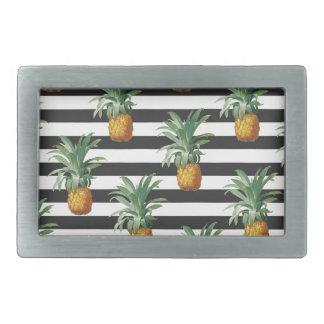 pineapples stripes grey belt buckle