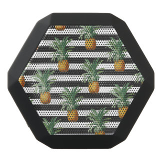 pineapples stripes grey black bluetooth speaker