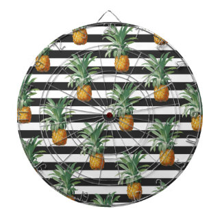 pineapples stripes grey dartboard
