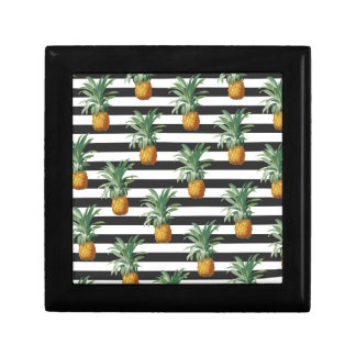 pineapples stripes grey gift box