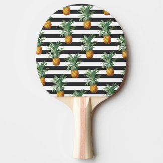 pineapples stripes grey ping pong paddle