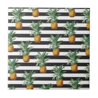 pineapples stripes grey tile