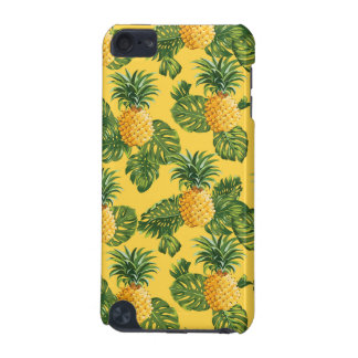 Pineapples & Tropical Leaves On Gold iPod Touch 5G Cover
