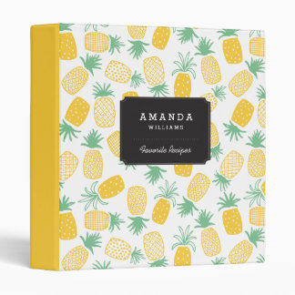 Pineapples Vinyl Binder