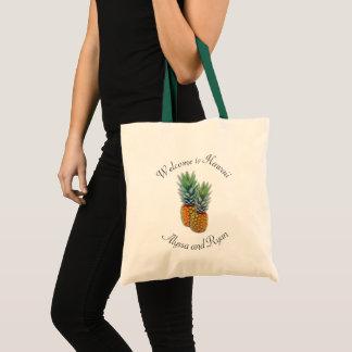 Pineapples Weekend Wedding Welcome Tote Bag