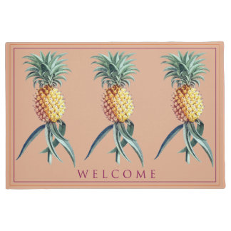 "Pineapples Welcome Mat  24"" x 36"""