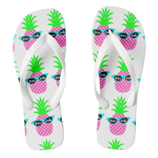 "Pineapples with ""DIVAtude"" Flip Flops"