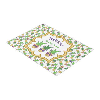 Pineapples with Sunglasses Welcome Doormat
