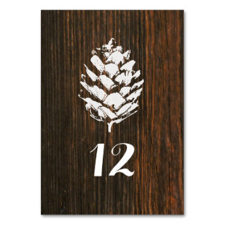 Pinecone Barn Wood Table Number