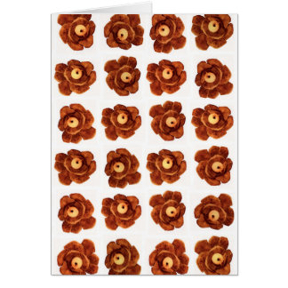Pinecone Flower Blank Card