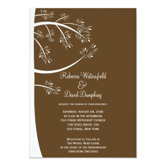Pinecone Pine Tree Theme Wedding Invitation