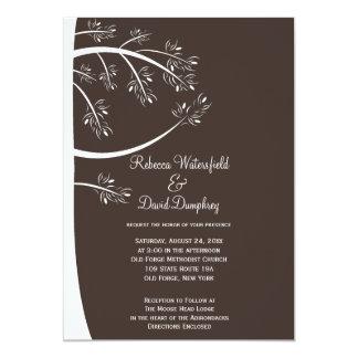 "Pinecone Pine Tree Theme Wedding Invitation 5"" X 7"" Invitation Card"