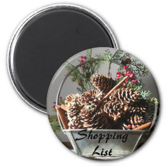 Pinecone Shopping List Magnet