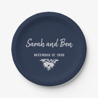 Pinecone Wedding Plate