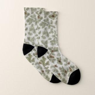 Pinecones Christmas Winter Socks 1