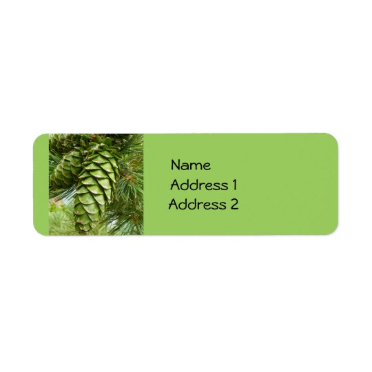 Pinecones Custom Labels