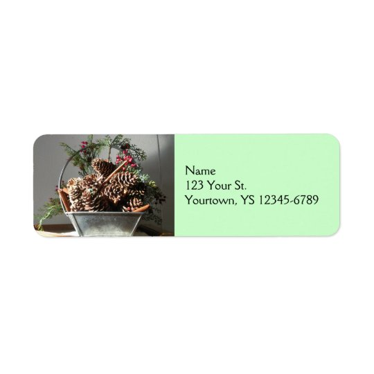 Pinecones Return Address Label