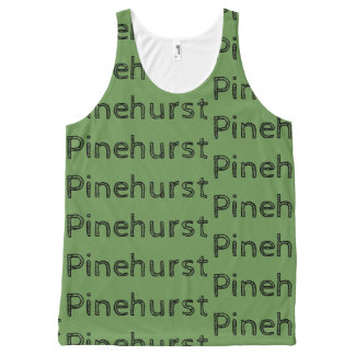 Pinehurst repeat can text rustic All-Over-Print tank top