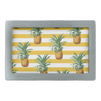 pinepples yellow stripes belt buckle