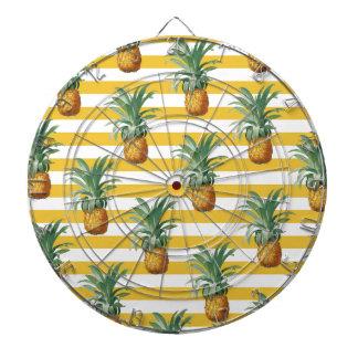 pinepples yellow stripes dartboard