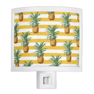 pinepples yellow stripes night lights