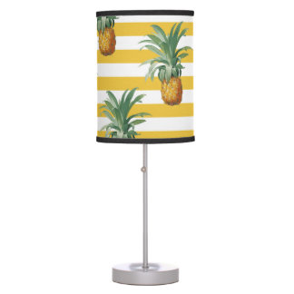pinepples yellow stripes table lamp