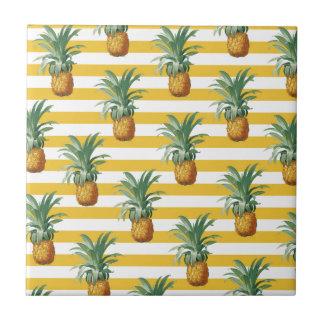pinepples yellow stripes tile