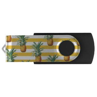 pinepples yellow stripes USB flash drive