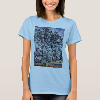 Pines And Aqueduct (The Viaduct) By Paul Cézanne T-Shirt