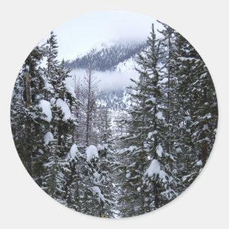 Pines Classic Round Sticker