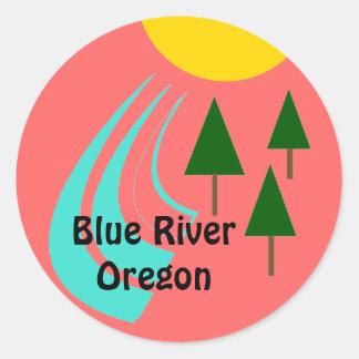 Pines River Sun Luggage Label Travel Promo sticker