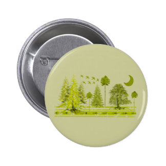 Pines with Moon-Customize Change BackGround Color 2 Inch Round Button