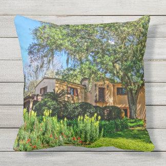 Pinewood Estate Mansion Bok Tower Gardens Florida Throw Pillow