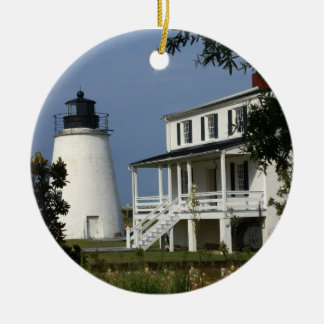 Piney Point Lighthouse Ceramic Ornament