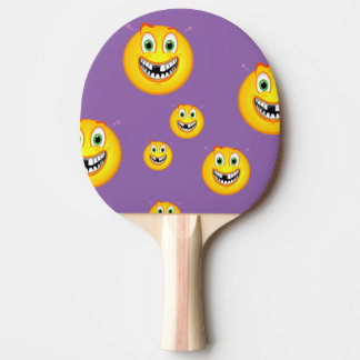 ping pog paddle smiley face Ping-Pong paddle