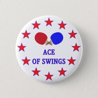 Ping Pong Ace of Swings 2 Inch Round Button