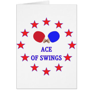 Ping Pong Ace of Swings Greeting Card