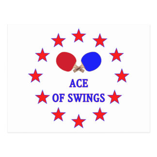Ping Pong Ace of Swings Postcard