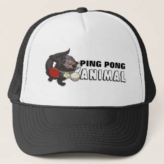 Ping Pong Animal Binturong Table Tennis Cartoon Trucker Hat