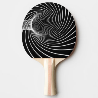 Ping pong bat black and white tunnel of light ping pong paddle