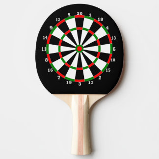 Ping Pong Bat - Dartboard Design Ping Pong Paddle