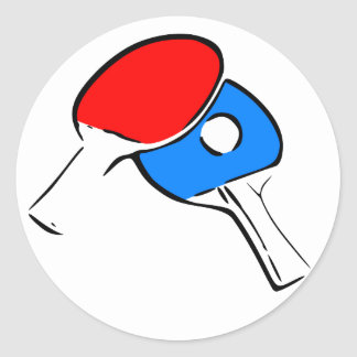 Ping Pong Classic Round Sticker