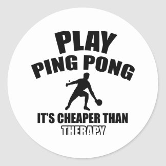 ping pong design classic round sticker