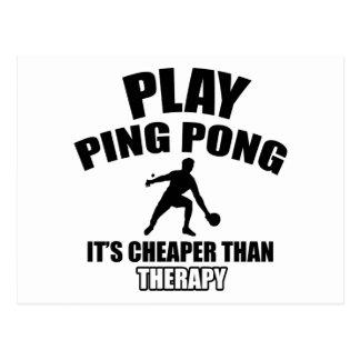 ping pong design postcard