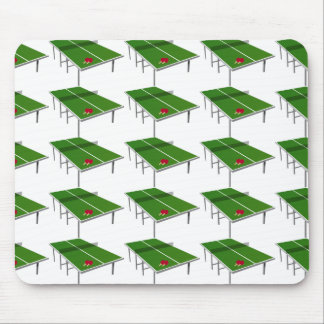 ping-pong for sportly people, green and white mouse pad