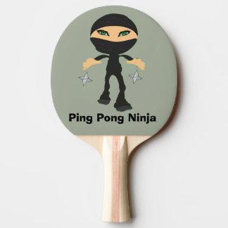 Ping Pong Ninja - Girl Ninja Ping Pong Paddle
