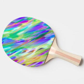 Ping Pong Paddle Colorful digital art splashing