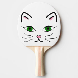 Ping Pong Paddle - Kitty Face