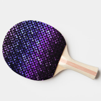 Ping Pong Paddle Purple Crystal Bling Strass