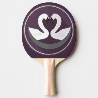 Ping Pong Paddle, Red Rubber Back LOVE SWANS Ping Pong Paddle